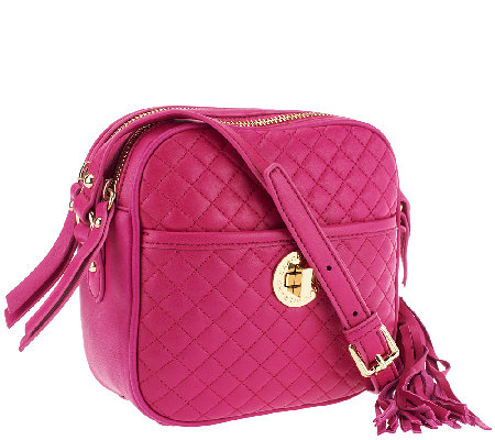Isaac Mizrahi Live! Bridgehampton Quilted Leather Camera Bag