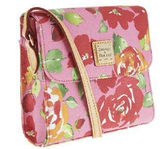 Dooney & Bourke Coated Cotton Rose Garden Letter Carrier - A252870