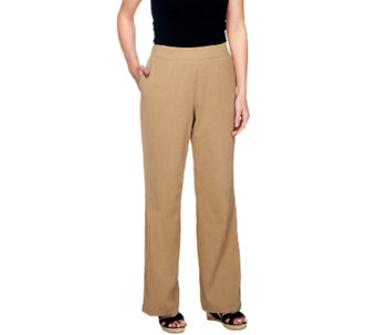Liz Claiborne New York Petite Gauze Pull-On Pants - A253070