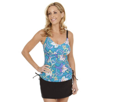 Liz Claiborne New York Floral Tankini Swimsuit