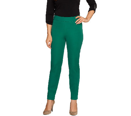 Isaac Mizrahi Live! Regular 24/7 Stretch Side Zip Ankle Pants