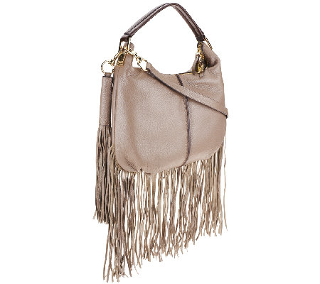 G.I.L.I. Mini Double Zip Fringe Hobo