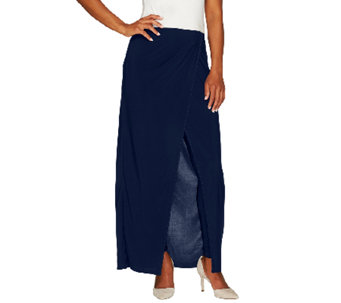Attitudes by Renee Jersey Knit Sarong Skirt with Leggings - A264270