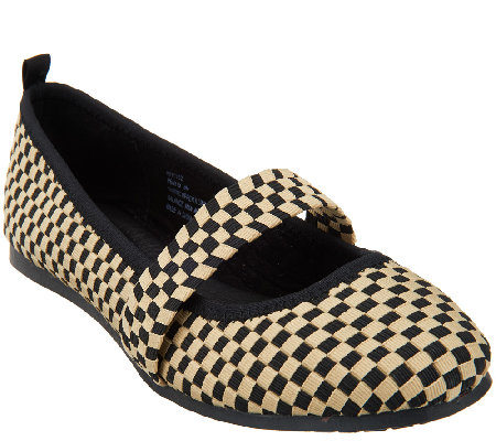Adam Tucker Stretch Woven Mary Janes - Peni