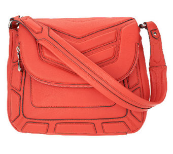 """As Is"" Aimee Kestenberg Leather Flap Front Shoulder Bag - A264970"