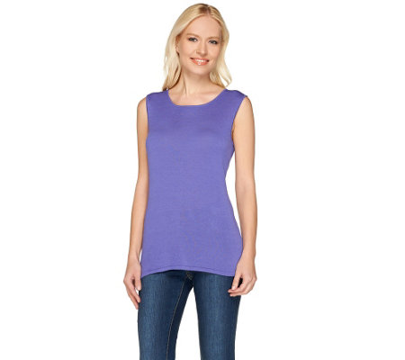 Attitudes by Renee Sleeveless Scoop Neck Knit Tank