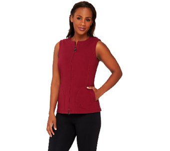 Linea Leisure by Louis Dell'Olio Zip Front Knit Vest - A267870