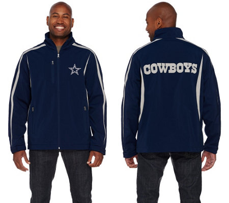 NFL Dallas Soft Shell Jacket with Fleece Lining
