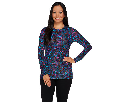 Cuddl Duds Softwear Stretch Long Sleeve Crew Neck Shirt