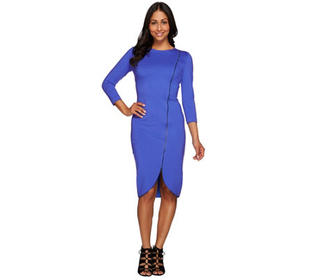 G.I.L.I. Petite Milano Ponte Zipper Dress