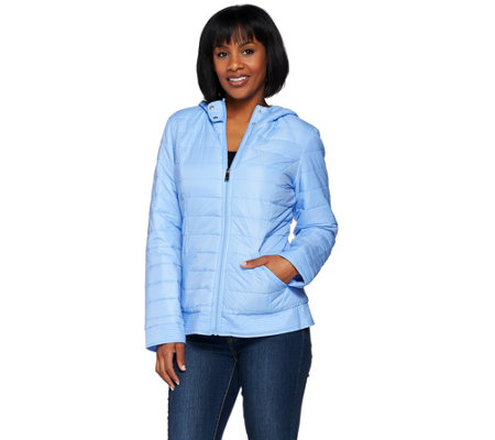 Liz Claiborne New York Quilted Zip Front Jacket