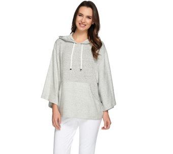 AnyBody Loungewear French Terry Hooded Sweatshirt - A275070