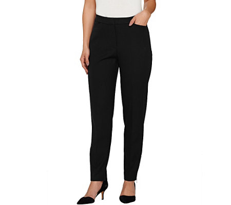 """As Is"" Susan Graver Multi Stretch Comfort Waist Ankle Pants"