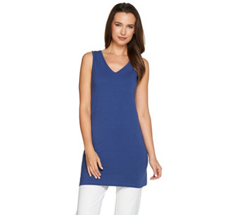 Women with Control Petite Long & Lean V-Neck Knit Tank - A276970