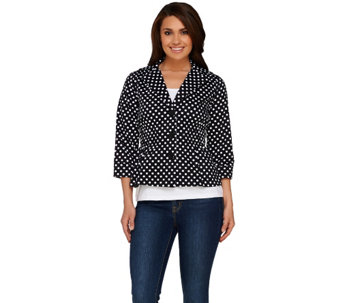 """As Is"" Joan Rivers Signature Jacket with 3/4 Sleeves - A277170"