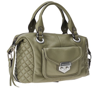 """As Is"" Aimee Kestenberg Pebble Leather Quilted Satchel - Zoe - A277870"