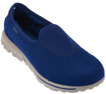"""As Is"" Skechers GOwalk Wool Faux Fur Shoes w/Memory Foam - Ease - A278670"