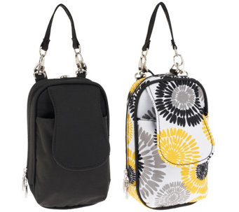 """As Is"" Set of 2 PursePlus Extra Large Smartphone Bags with Straps - A278970"