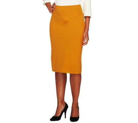 """As Is"" Women with Control Tummy Control Print or Solid Regular Skirt"