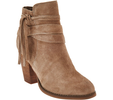 Sole Society Suede Ankle Boots w/ Tassel Detail - Rumi