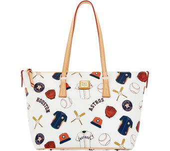 Dooney & Bourke MLB Astros Zip Top Shopper - A280070