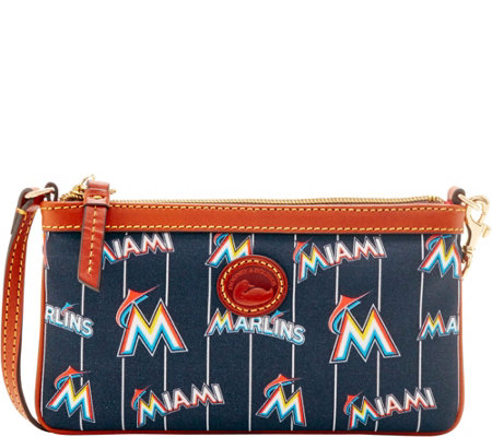 Dooney & Bourke MLB Nylon Marlins Large Slim Wristlet