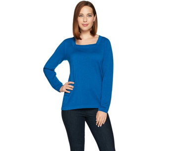 Joan Rivers Wardrobe Builders Square Neck Sweater - A283770