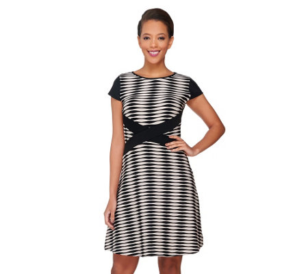 """As Is"" SA by Seth Aaron Regular Striped Knit Dress"