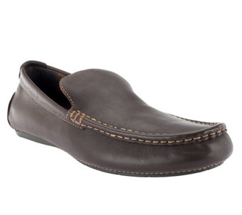"""As Is"" Vionic w/Orthaheel Men's Parker Orthotic Leather Loafers - A289870"