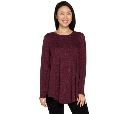 AnyBody Loungewear Cozy Knit Swing Top
