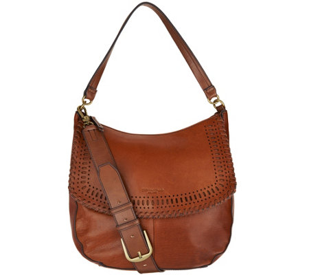 """As Is"" Tignanello Rider Vintage Leather Crossbody"