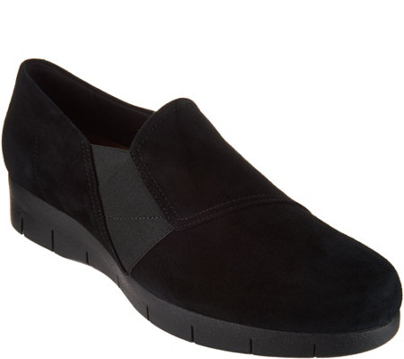 Clarks Artisan Suede Slip-on Shoes -