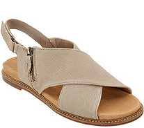 Clarks Artisan Leather Cross Band Sandals - Corsio Calm - A306970
