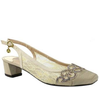 J. Renee Low Heel Slingback Pumps - Faleece - A355970