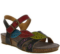 Spring Step L'Artiste Leather Wedge Sandals - Kukonda - A357170