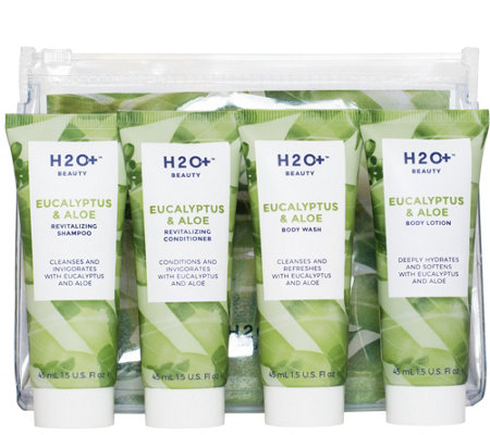 H2O+ Beauty Eucalyptus & Aloe Travel-Friendly Faves 4-pc Set