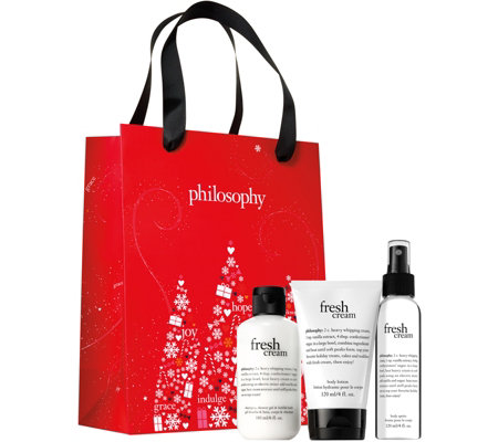 philosophy gift trio with shower gel, body lotion & spritz