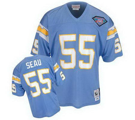 new product 66305 f0908 junior seau authentic chargers jersey