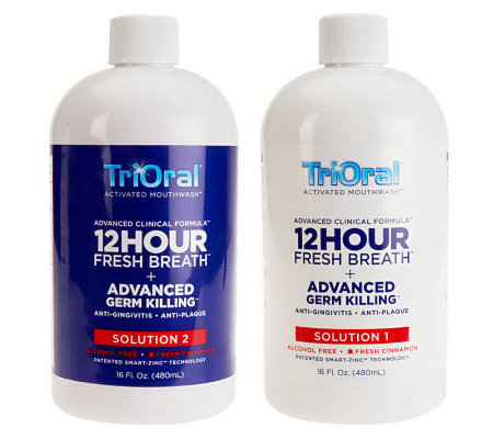 TriOral 12-Hour Fresh Breath Mouth Wash Advanced ClinicalFormula