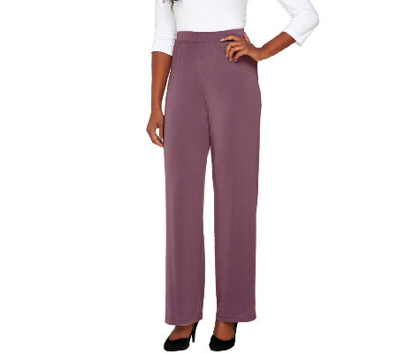George Simonton Petite Crystal Knit Pull-on Pants