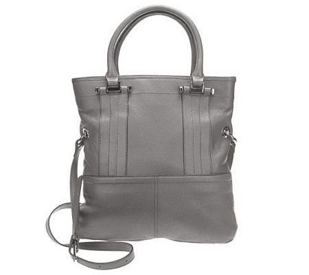 B.Makowsky Glove Leather Fold Over Magazine Tote