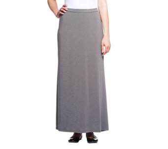 Linea by Louis Dell'Olio Petite Fit Feather Jersey Maxi Skirt - A233971