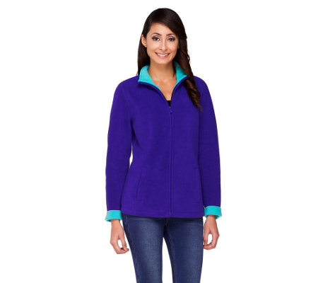 Susan Graver Bonded Polar Fleece Zip Front Jacket