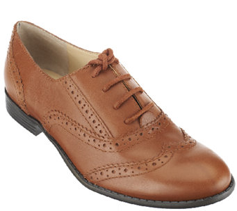 """As Is"" Isaac Mizrahi Live! Classic Leather Oxfords - A265771"