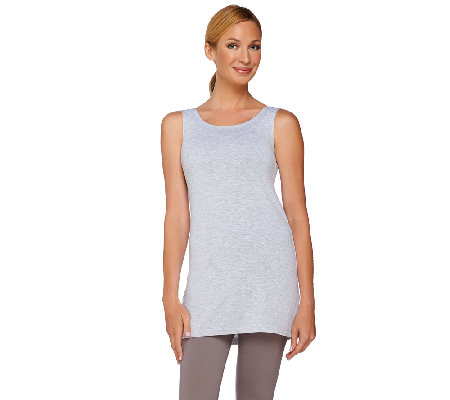 LOGO Layers by Lori Goldstein Scoop Neck Knit Tank with Straight Hem