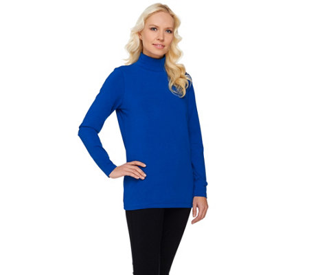 Linea Leisure by Louis Dell'Olio Solid Knit Turtleneck