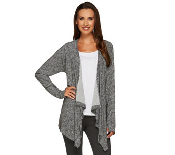 Cuddl Duds Softwear Stretch Long Sleeve Wrap Up - A268471