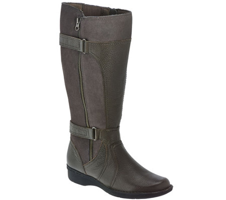 Clarks Leather Wide Shaft Boots - Whistle Brook