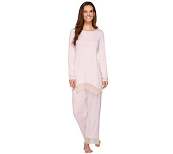 LOGO Luna by Lori Goldstein Knit Top and Pants Pajama Set - A272871