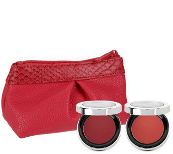 bareMinerals Blush and Bloom Pop of Passion Blush Balm Duo & Makeup Pouch - A273671